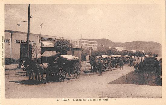 Station des voitures de place